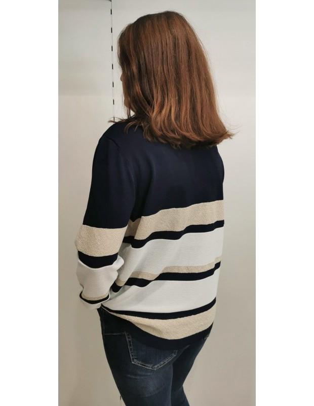 Suéter Modelo CH8131 CRISTINA. Color azul marino.