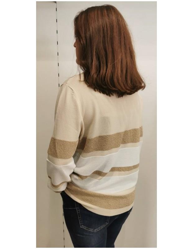 Suéter Modelo CH8131 CRISTINA. Color beige.