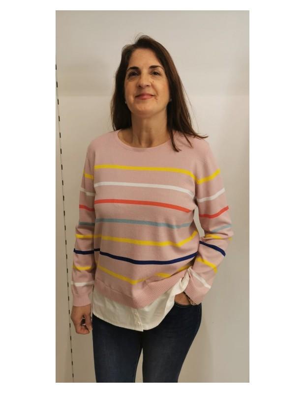 Suéter Andrea. Modelo CH8129ANDREA. Color rosa.