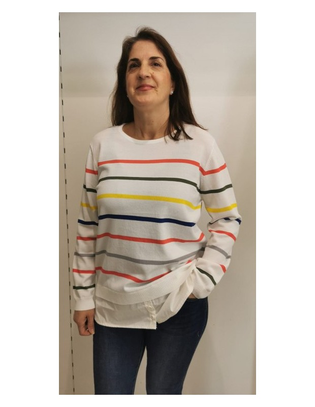 Suéter Andrea. Modelo CH8129ANDREA. Color blanco.