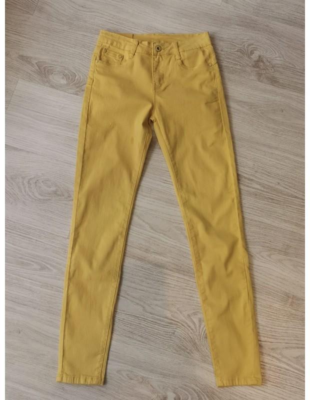 Pantalón pitillo - Modelo L12811-2 push up - Color amarillo