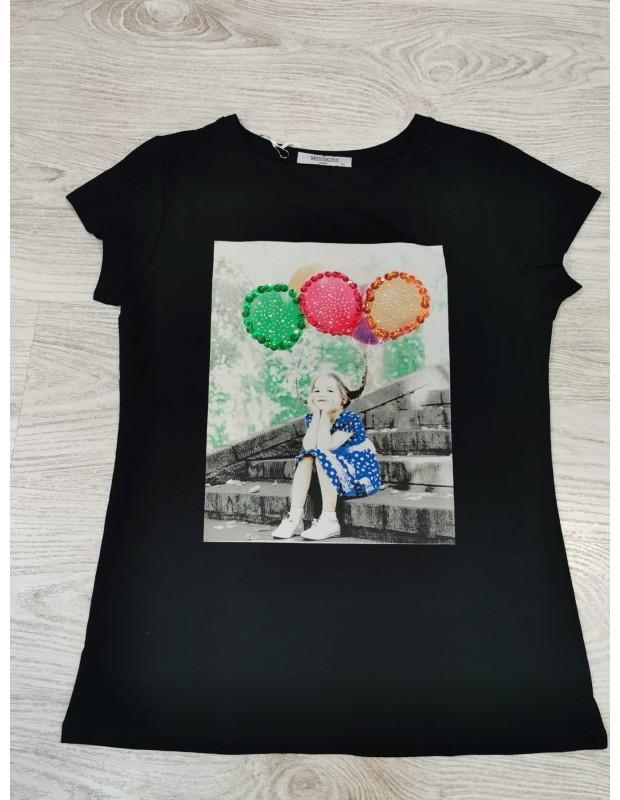 Camiseta globos. Modelo MS60261. Talla única (36 - 42).