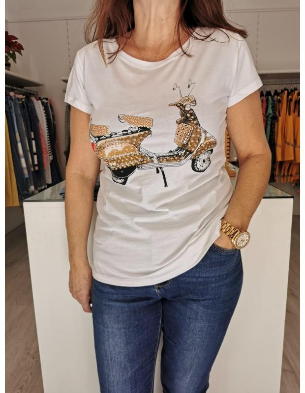 Camiseta vespa. Modelo MS60260. Talla única (36 a 42).