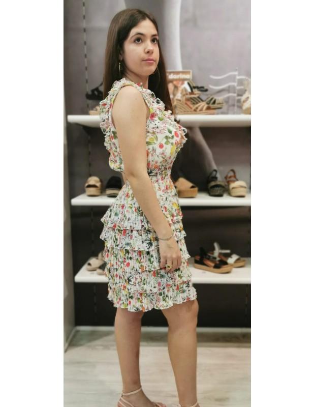 Vestido Carlota. Modelo 43553 BLANCO