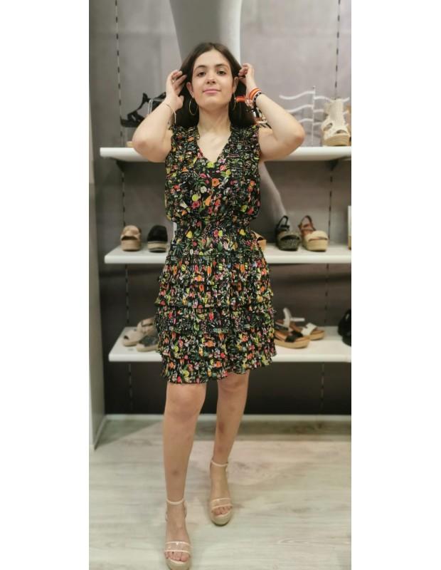 Vestido Carlota. Modelo 43553. NEGRO