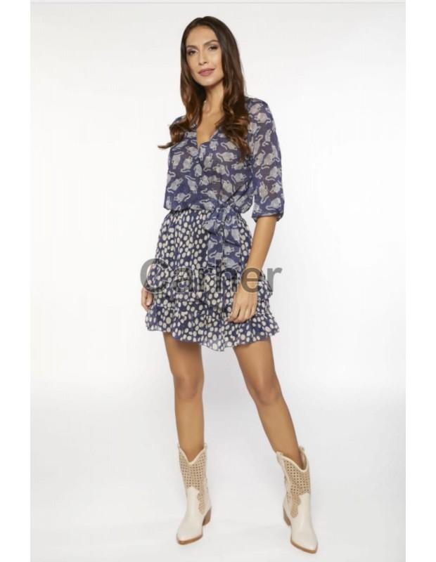 Vestido - Modelo 21410 capricho - Color azul