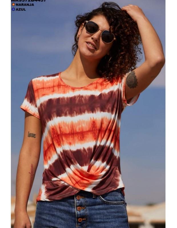 Camisa viky - Modelo MR9372B - Color teja