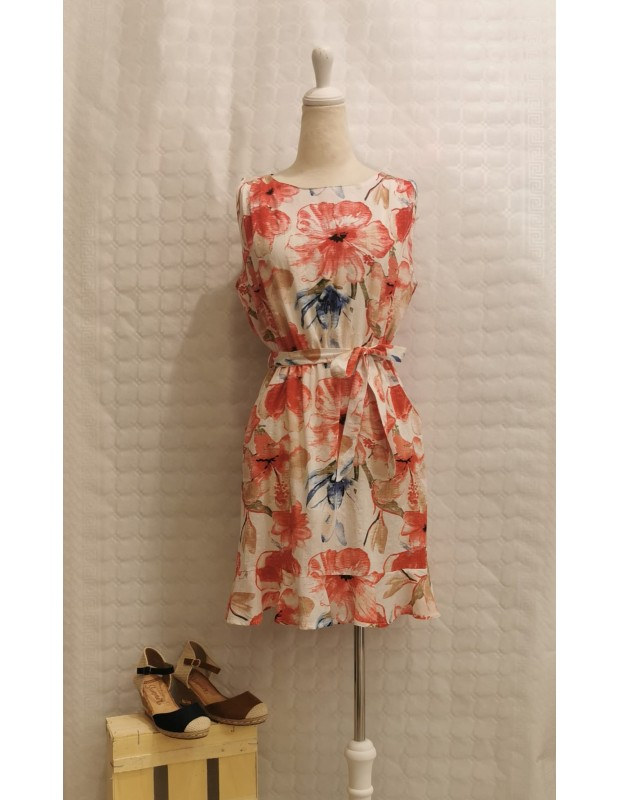 Vestido flori - Modelo Y8922 - Color rojo
