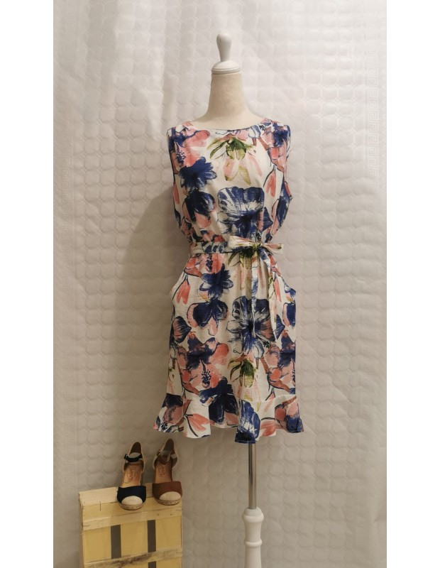 Vestido flori - Modelo Y8922 - Color azul