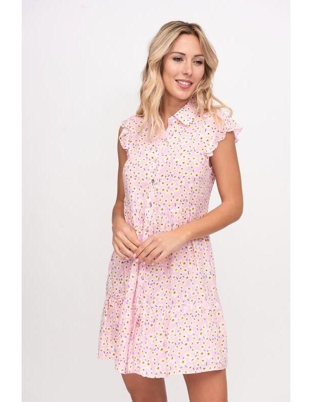 Vestido pastel - Modelo MR8396 - Color rosa