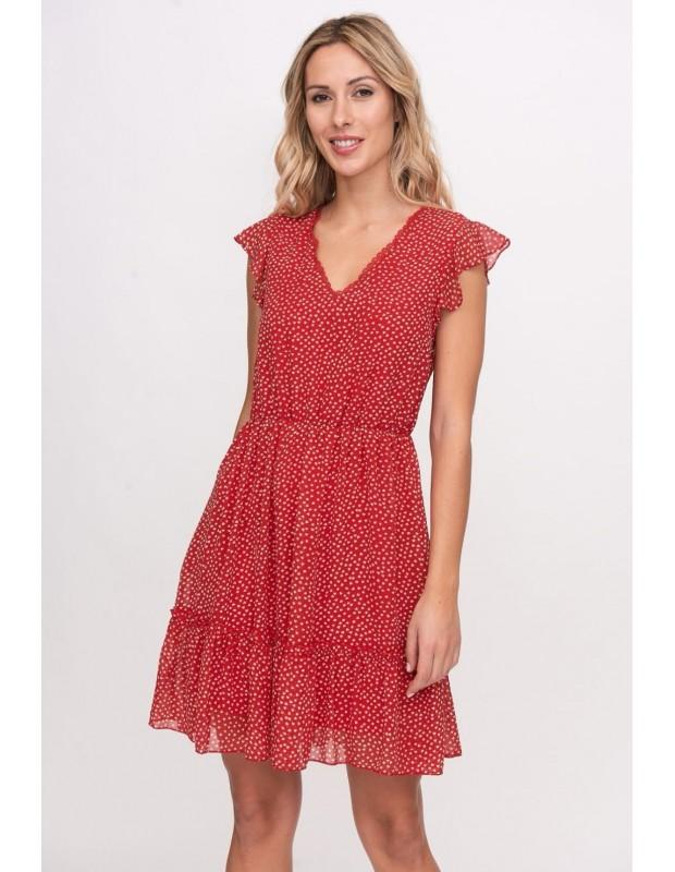 Vestido corazones. Modelo 099021C. Colo rojo.