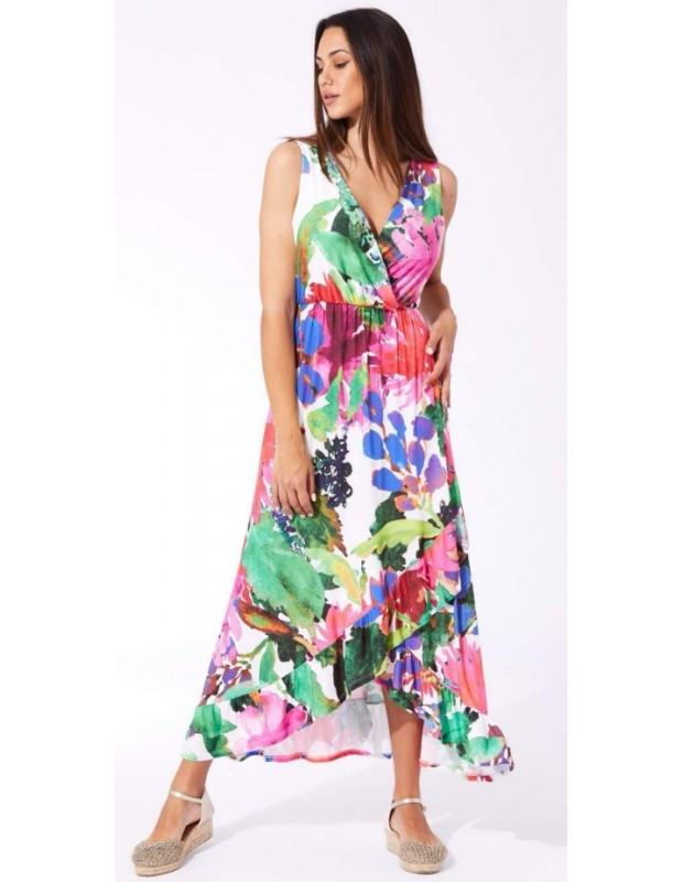 Vestido floral. Modelo MR9419C.