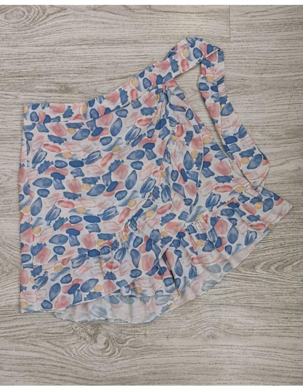 Falda pantalon. Modelo rosana. Talla única (36 - 40). Color azul celeste