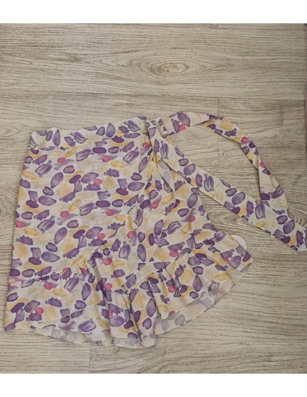 Falda pantalon. Modelo rosana. Talla única (36 - 40). Color azul malva