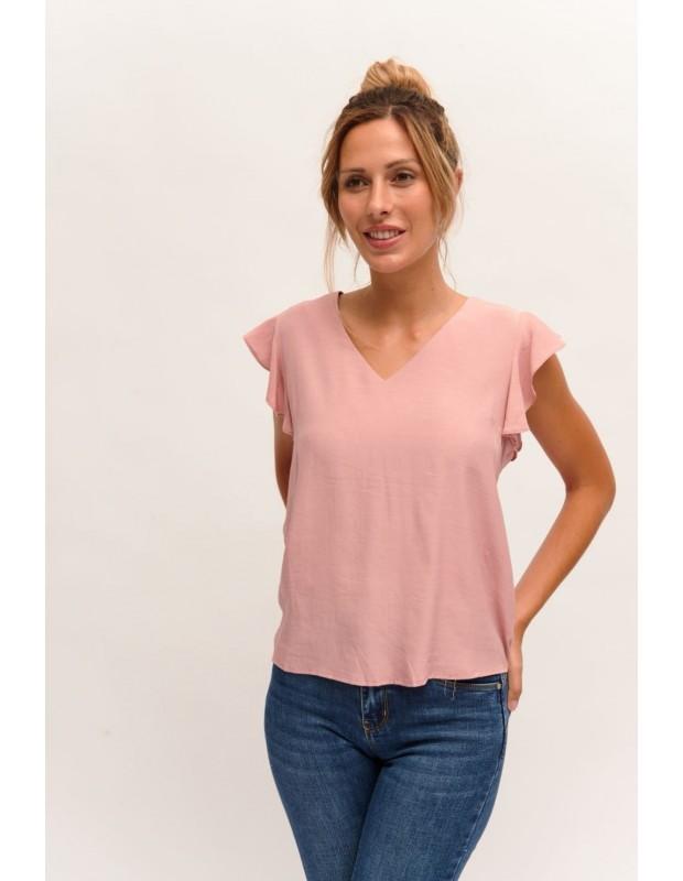 Blusa volantes - Modelo MR-9388 - Color rosa