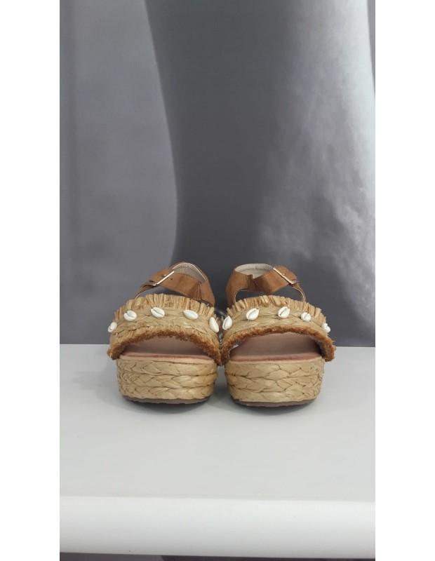 Sandalia pechinas - Color Plata de gel - Modelo 231DF pechinas