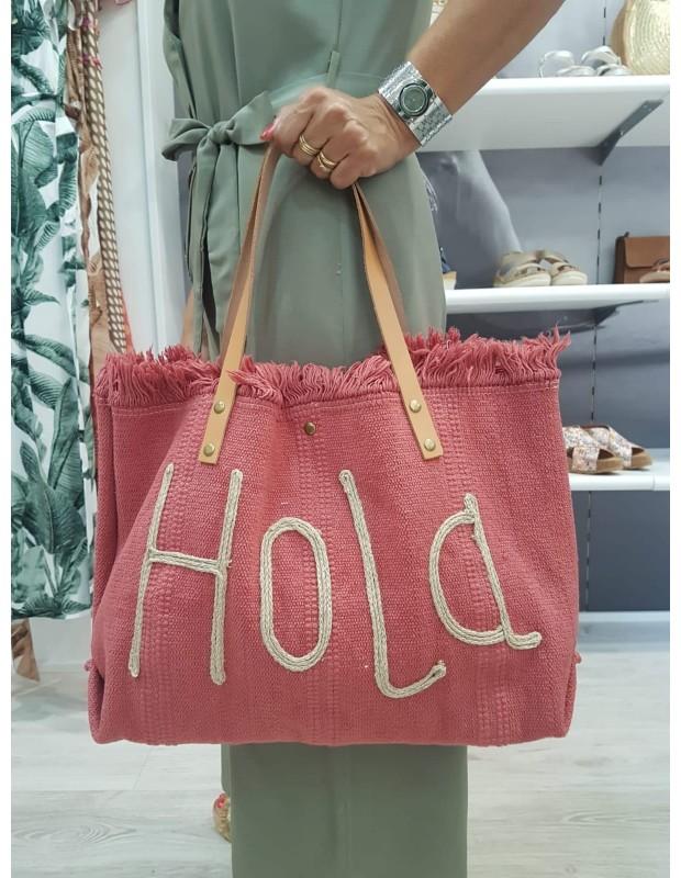 Bolso de lona - Modelo 01220 Hola - Color frambuesa