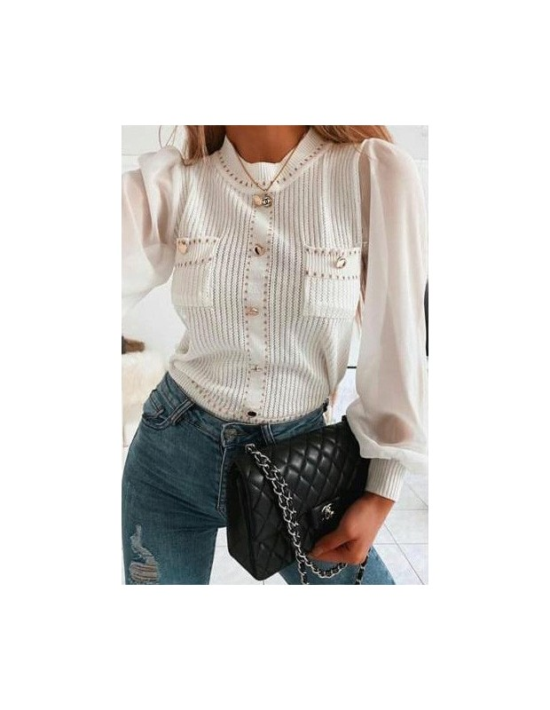 Suéter de mujer - Blusa Sonia - Talla única (36 - 40) - Color blanco