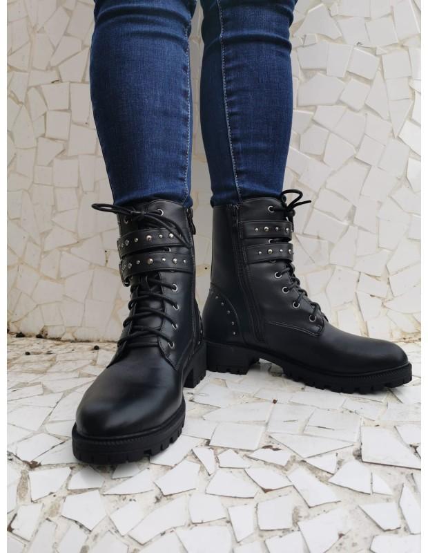 Botines militar de mujer - Modelo 2027DF - Color negro