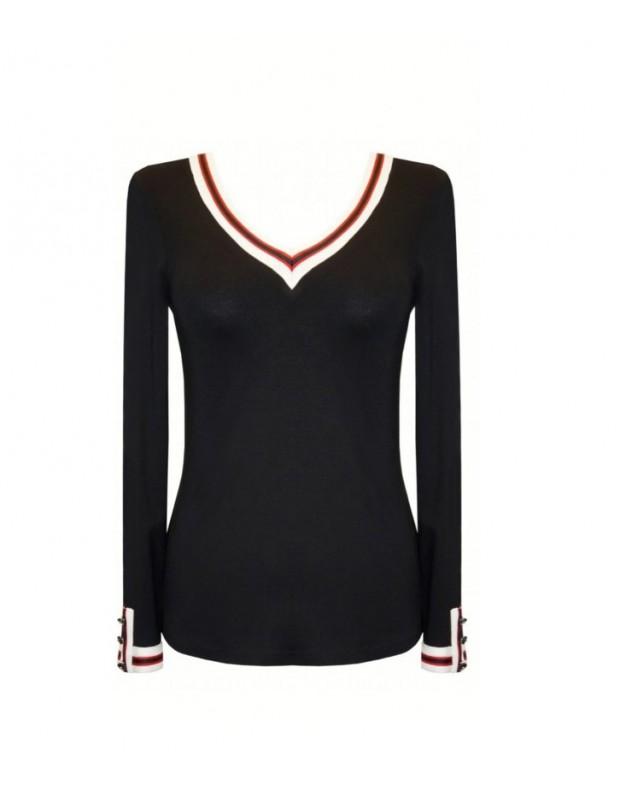 Suéter de pico para mujer. Modelo 44020. Firma arggido.