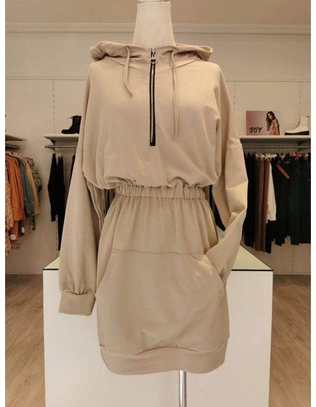Vestido sudadera - Modelo 1144 V-sudadera - Talla única (36 a 40)
