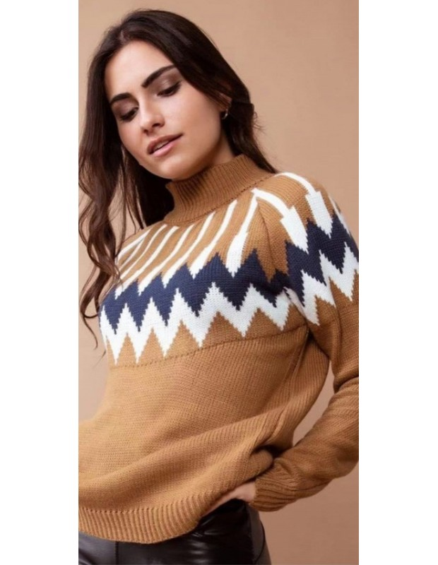 Suéter egipcio. Modelo 085521. Talla única (36 - 42). Color Visón.